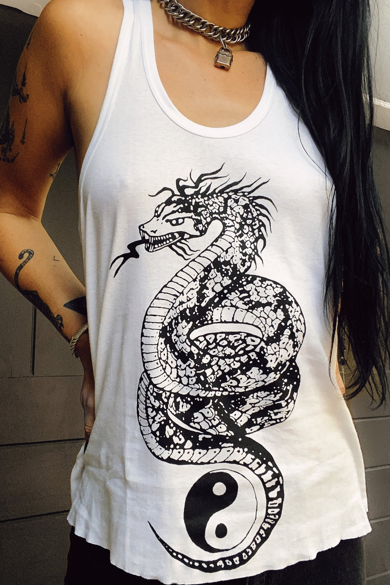 Backbite Loose Fit Dragon Tank Top | In Stock