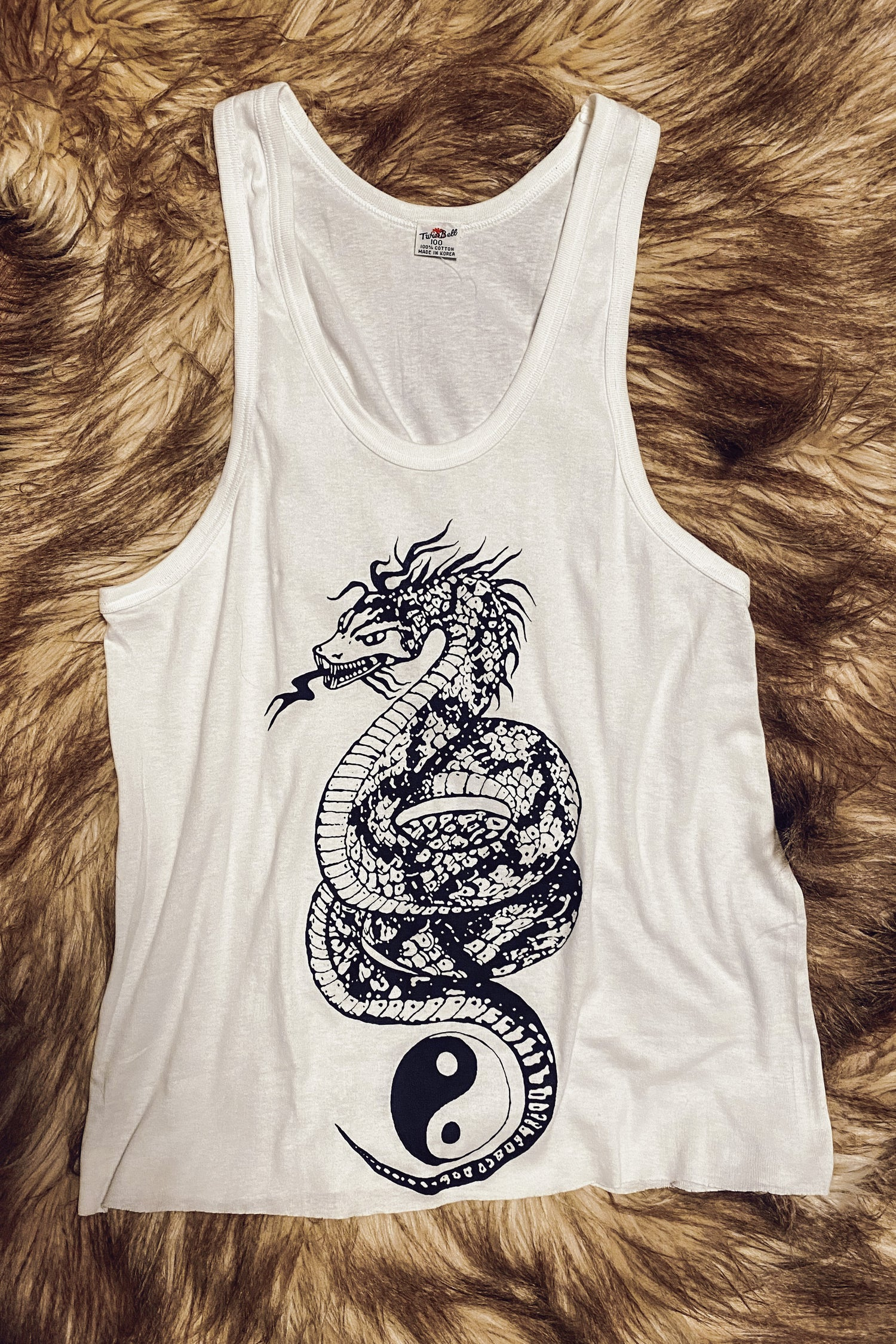 Backbite Vintage Printed Dragon Tank Top | One Left In Stock