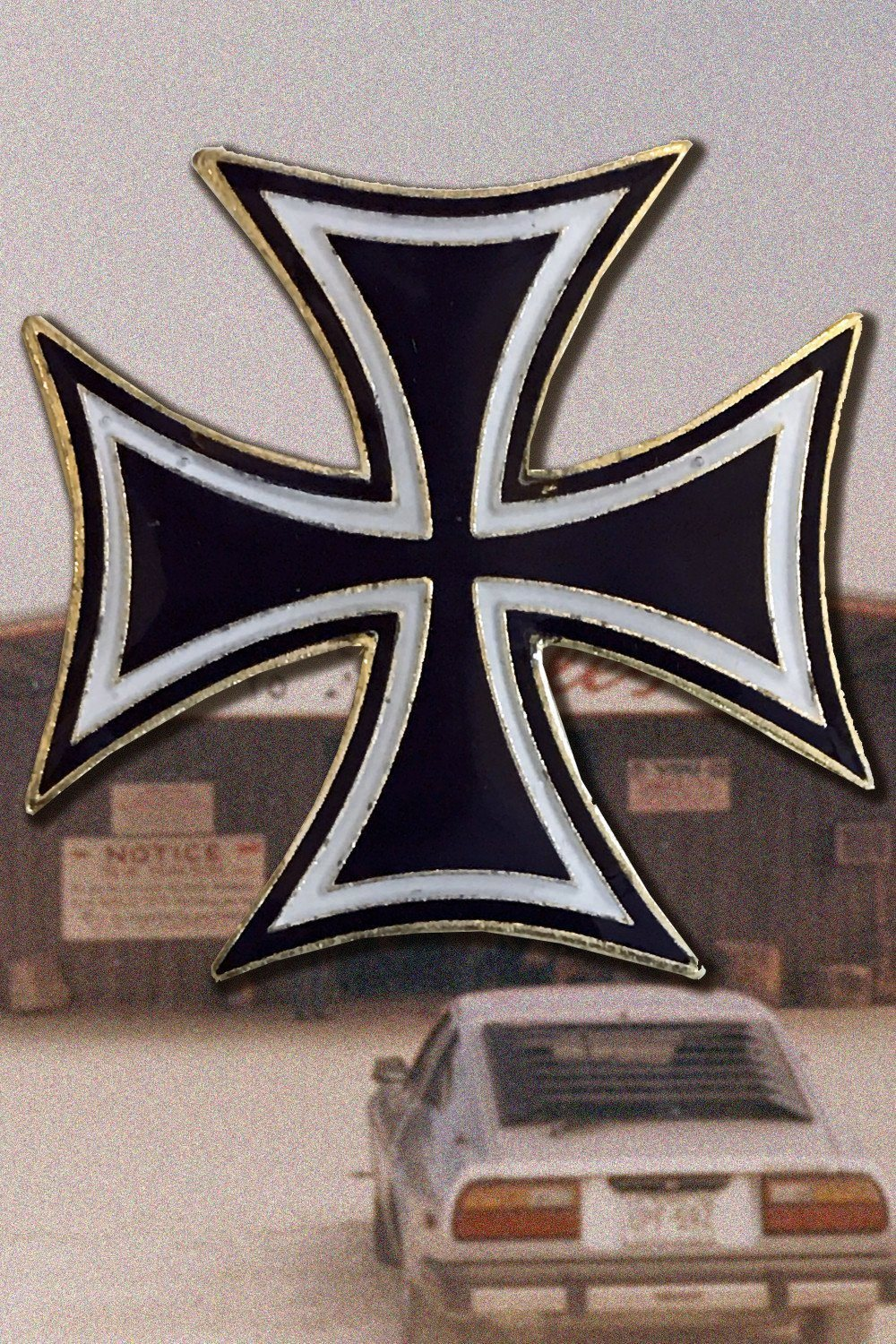 Iron Cross Lapel Pin, Accessories, BACKBITE, BACKBITE