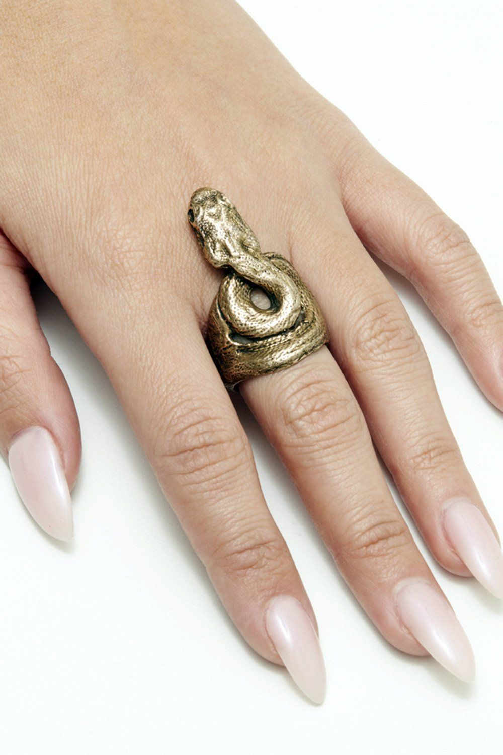 PRE-ORDER The Ishta Snake Ring By Earthling Jewelry, Accessories, Earthling, BACKBITE