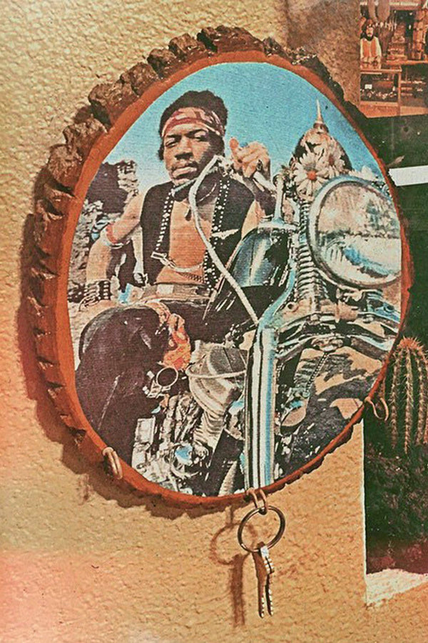 Jimi Hendrix South Saturn Motorcycle Wall Plaque