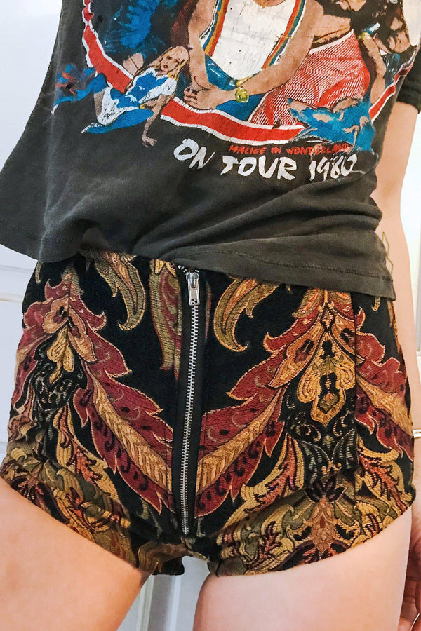 *In Stock Now!* Jungle Nights Tapestry Shorts, bottoms, BAD VIBES, BACKBITE