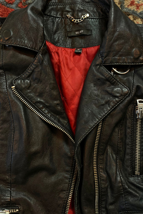 Kill City Lambskin Motorcycle Jacket