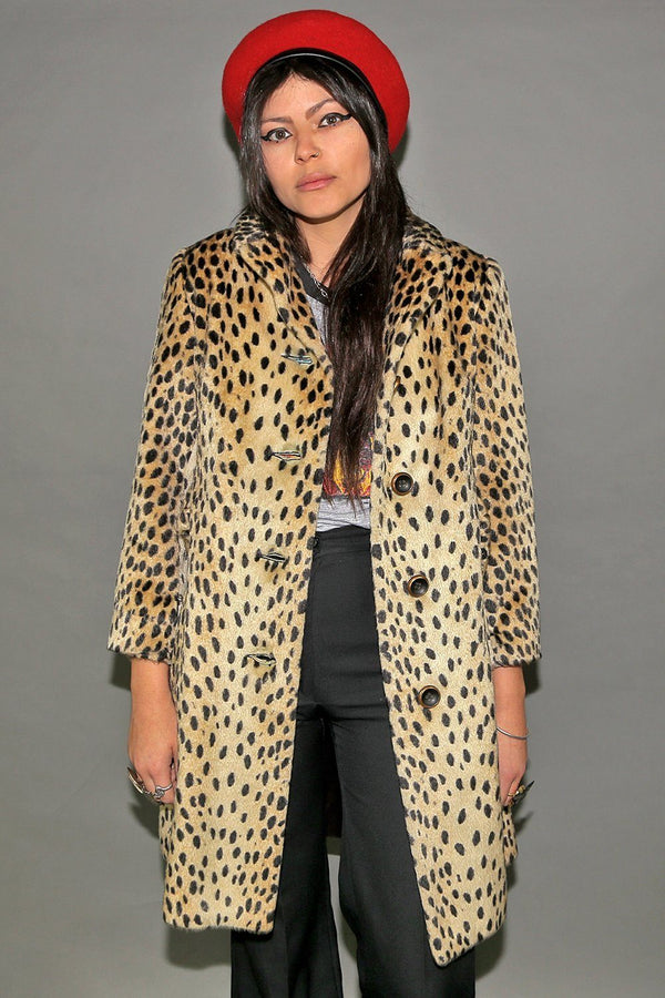 Wildcat 1960s Perfect Leopard Print Coat