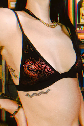 Onyx Velvet Bralette by Solstice Intimates・ALMOST GONE