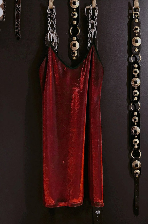 The Heavy Metal Chain Dress・Red Cobra