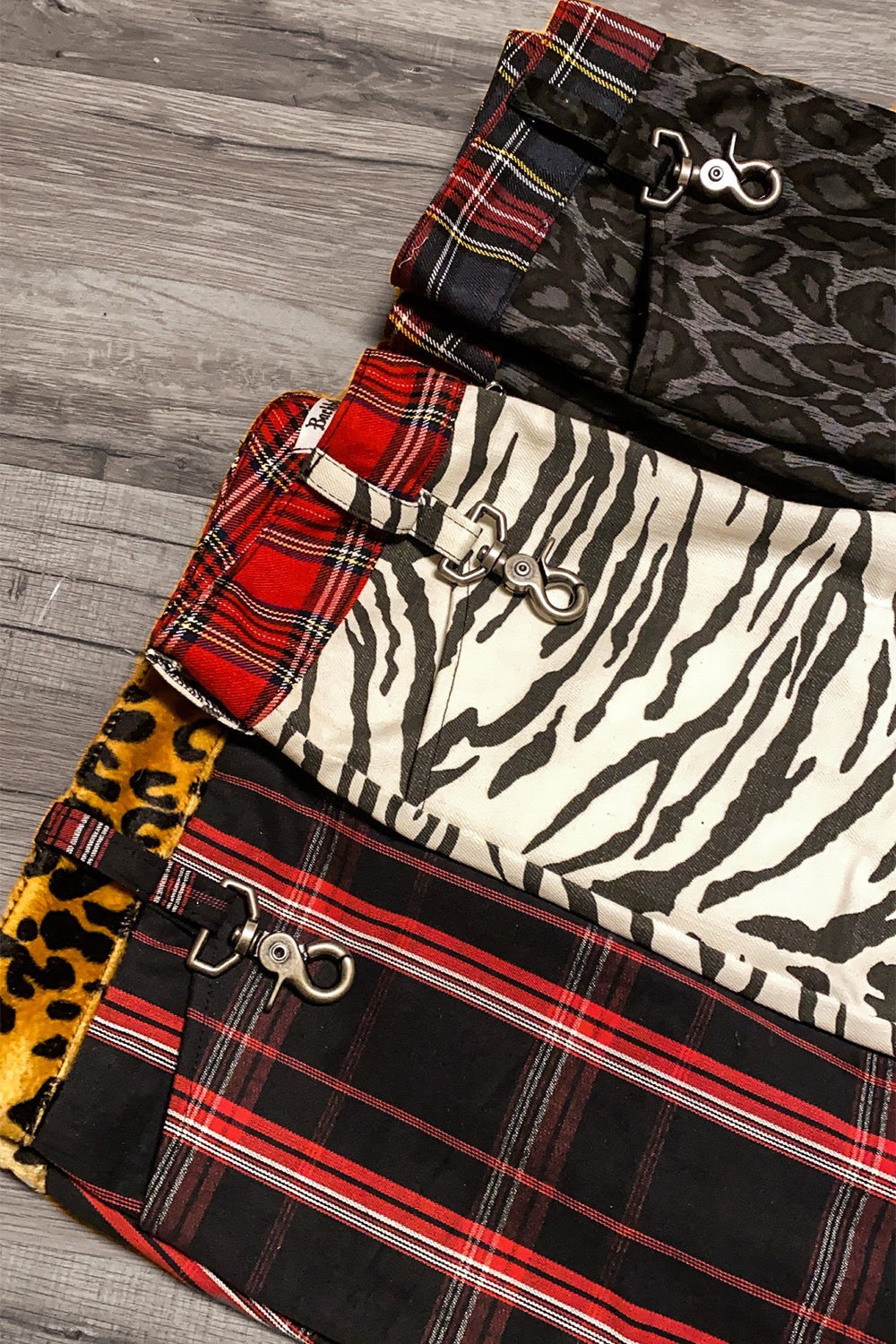 Trainspotting Cuffed Skinny Pants: Zebra/Plaid | Size 24 & 27 In Stock