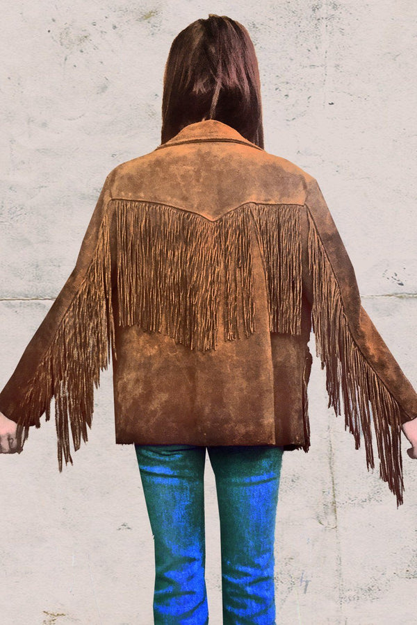 Authentic 1970s North Beach Leather Jacket with Fringe, Outerwear, BACKBITE, BACKBITE