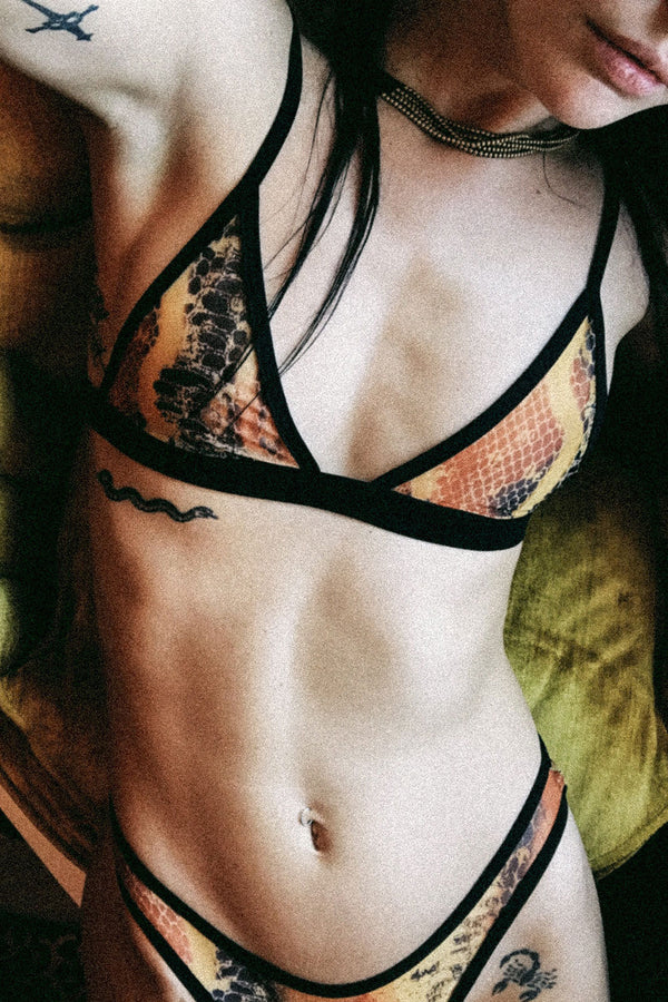 The Lynx Bra in Sahara Tie Dye Snakeskin