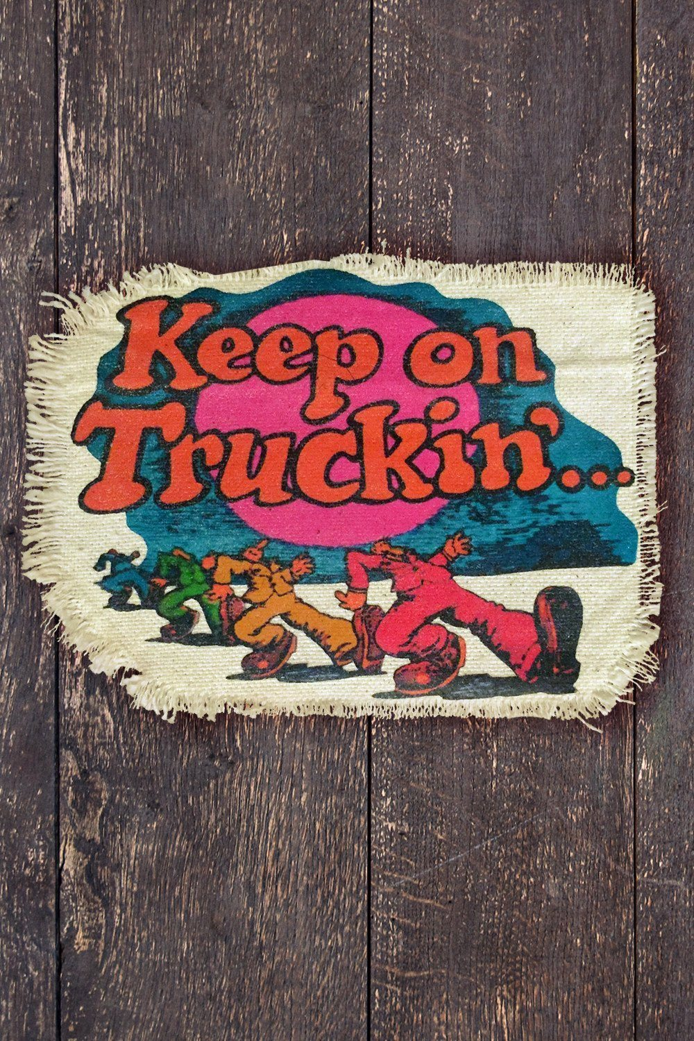Keep On Truckin' Recycled Canvas Patch, Patches/Pins, IN HOUSE, BACKBITE