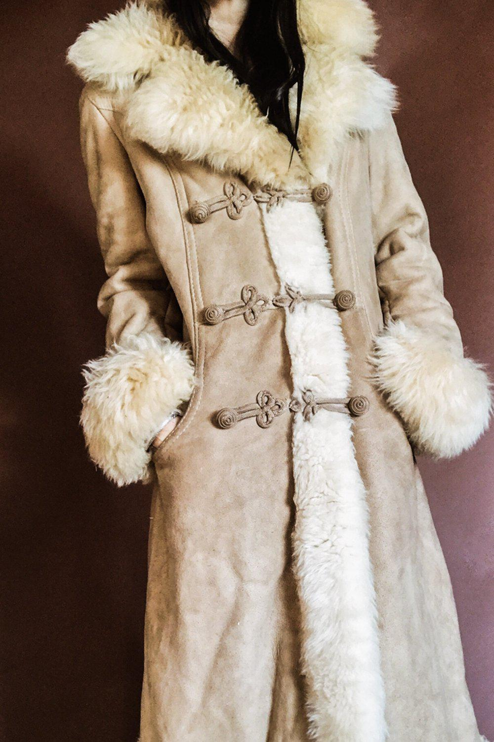 Gorgeous Suede & Shearling Penny Lane Coat