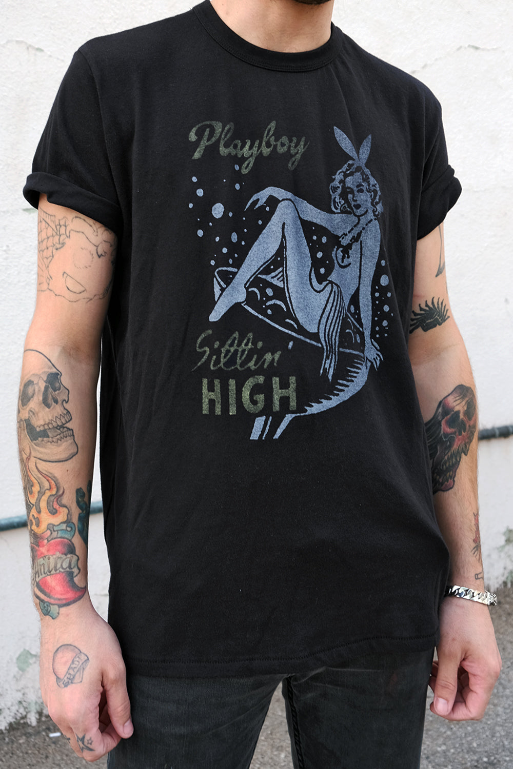 Playboy Sittin' High 50/50 Tee by Gimme Danger | In Stock