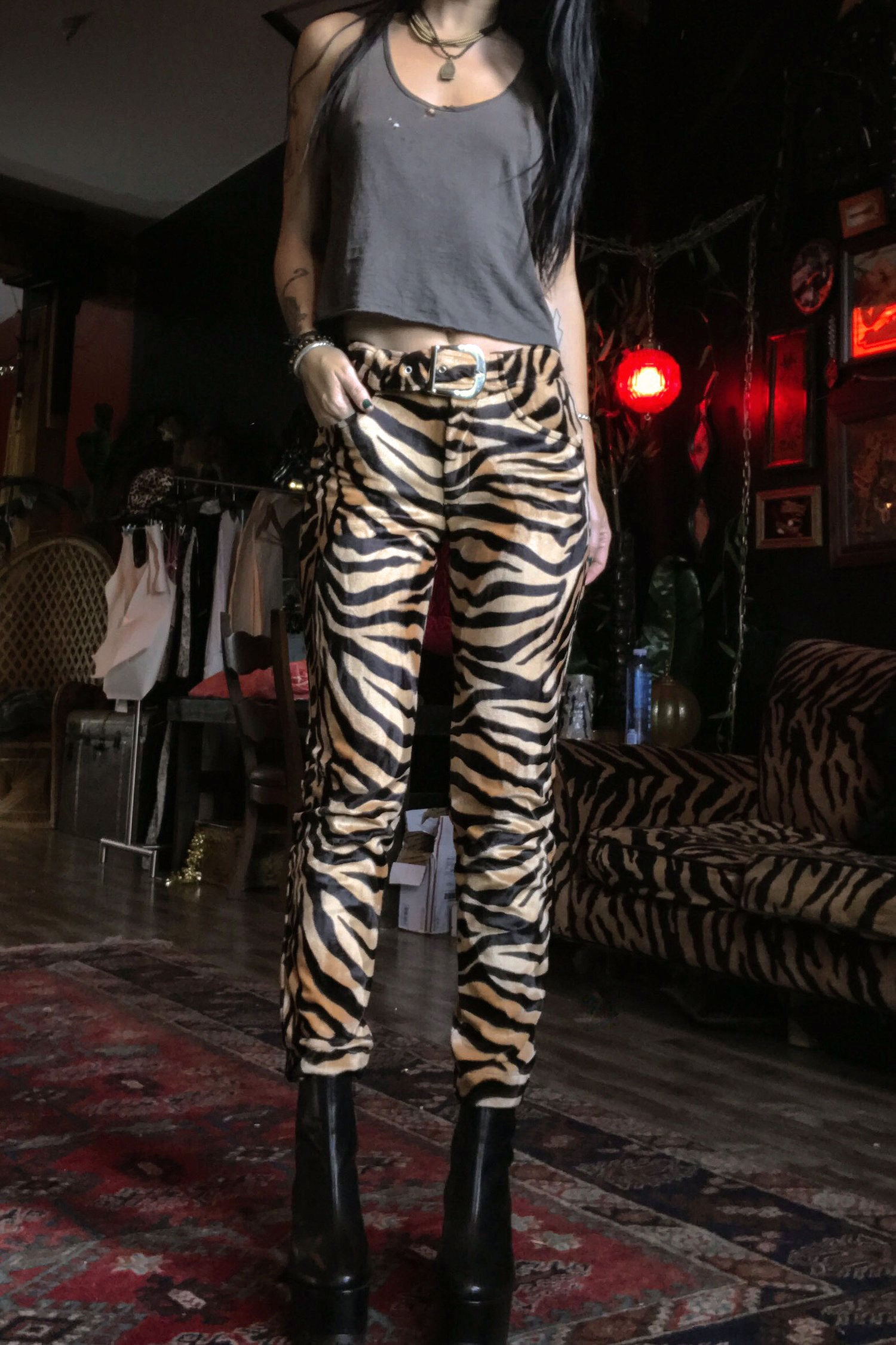 Electric 77 Skinny Pants Size 27・Tiger, bottoms, BACKBITE, BACKBITE