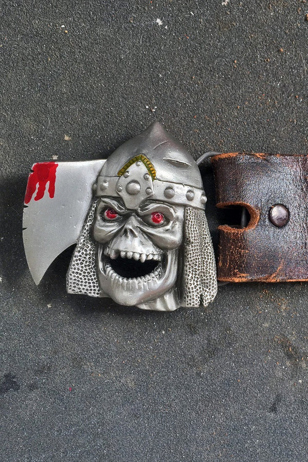 Viking Reaper Vintage Studded Leather Belt, Accessories, BACKBITE, BACKBITE