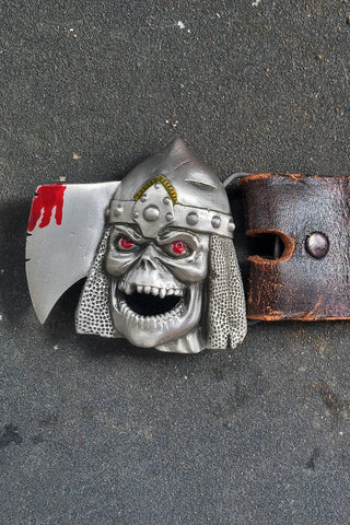 Undead Viking Vintage Studded Leather Belt