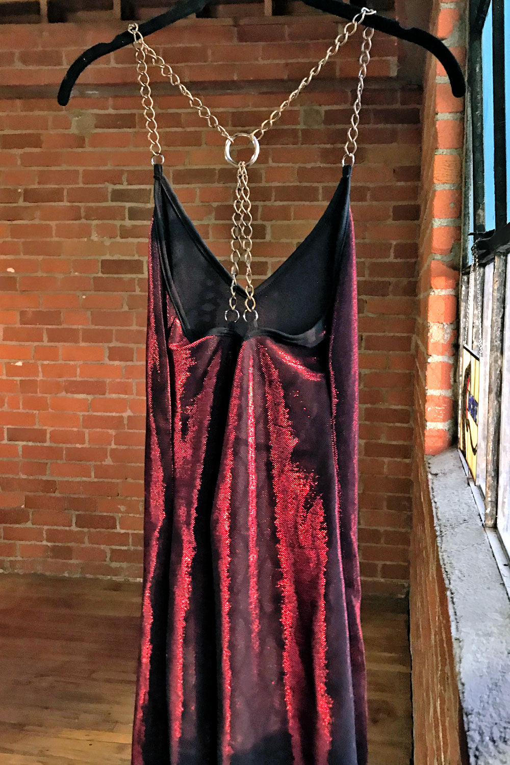 The Angelina Chain Dress・Metallic Red, Dresses, BACKBITE, BACKBITE