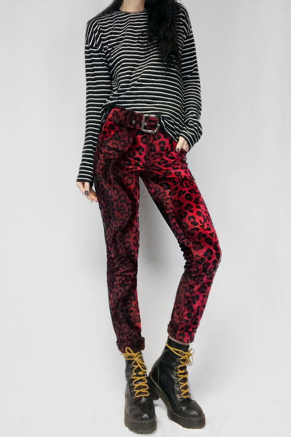 Electric 77 Red Jaguar Skinny Pants