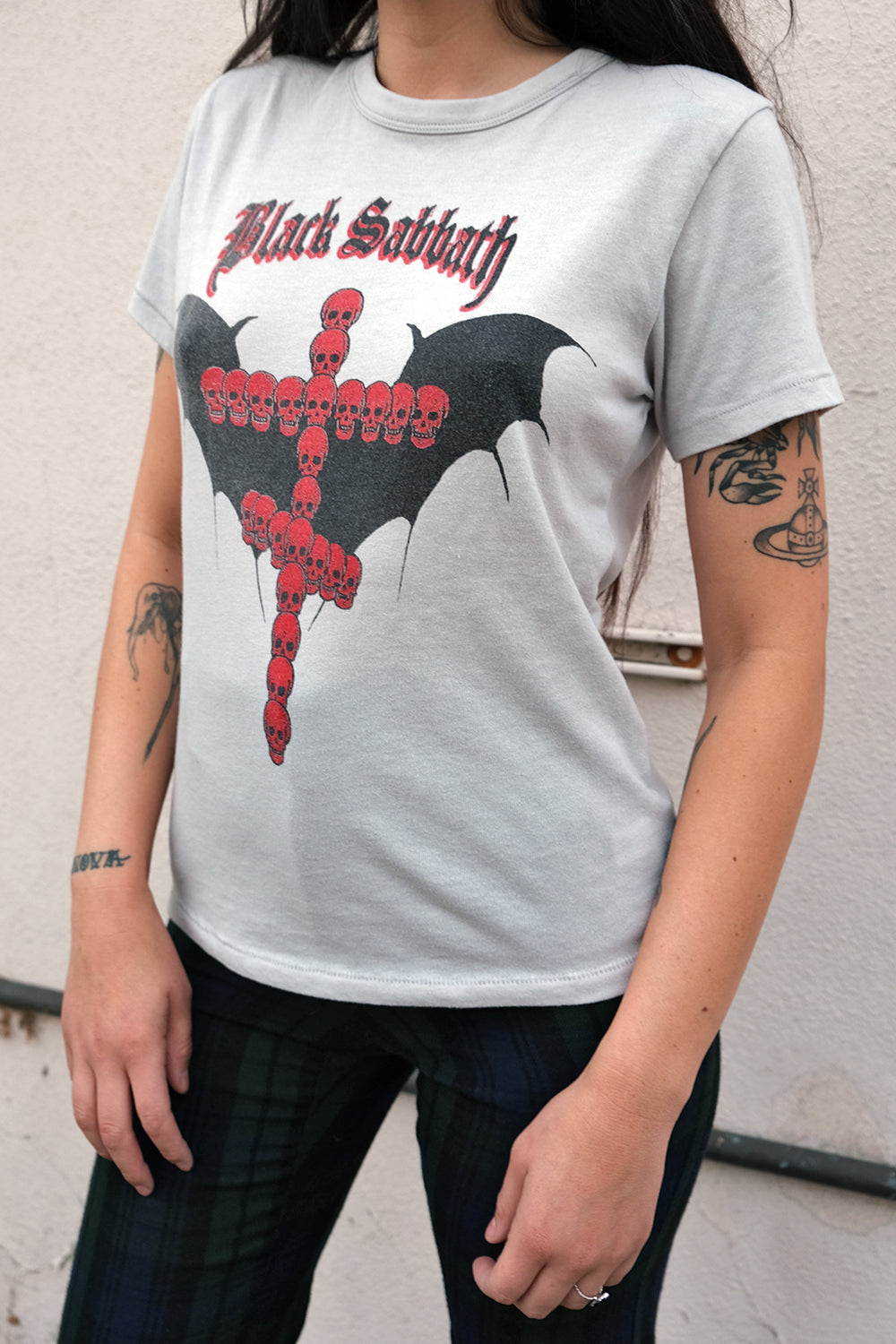 Black Sabbath Silver/Red Unisex 50/50 Tee by Gimme Danger | Made To Order