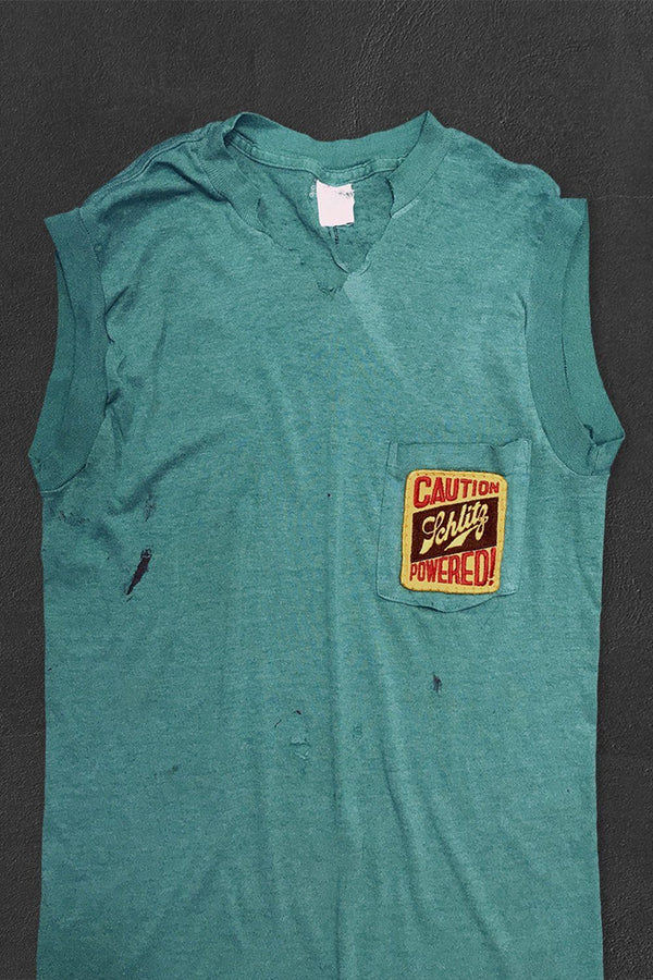 SCHLITZ POWERED Paper Thin Muscle Tee