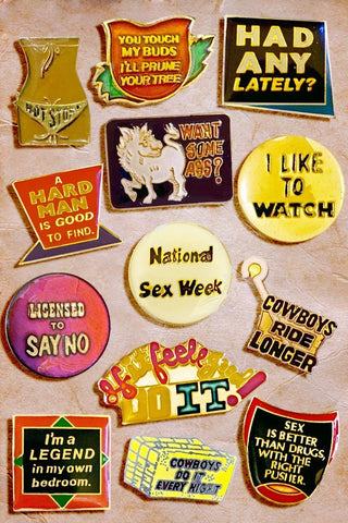 ~No Kids Allowed~ Vintage Adult Humor Lapel Pins