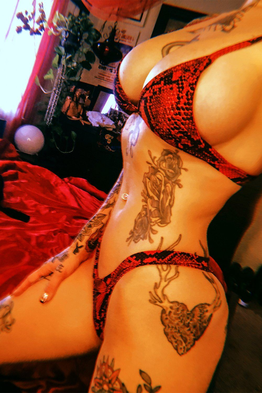 PRE-ORDER Smoke Show Bikini in Red Cobra