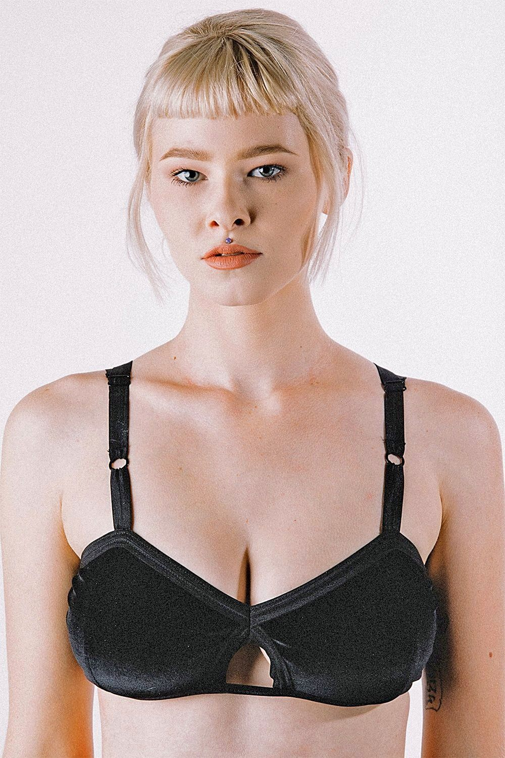 Onyx Velvet Bralette by Solstice Intimates・ALMOST GONE, Intimates, solstice, BACKBITE