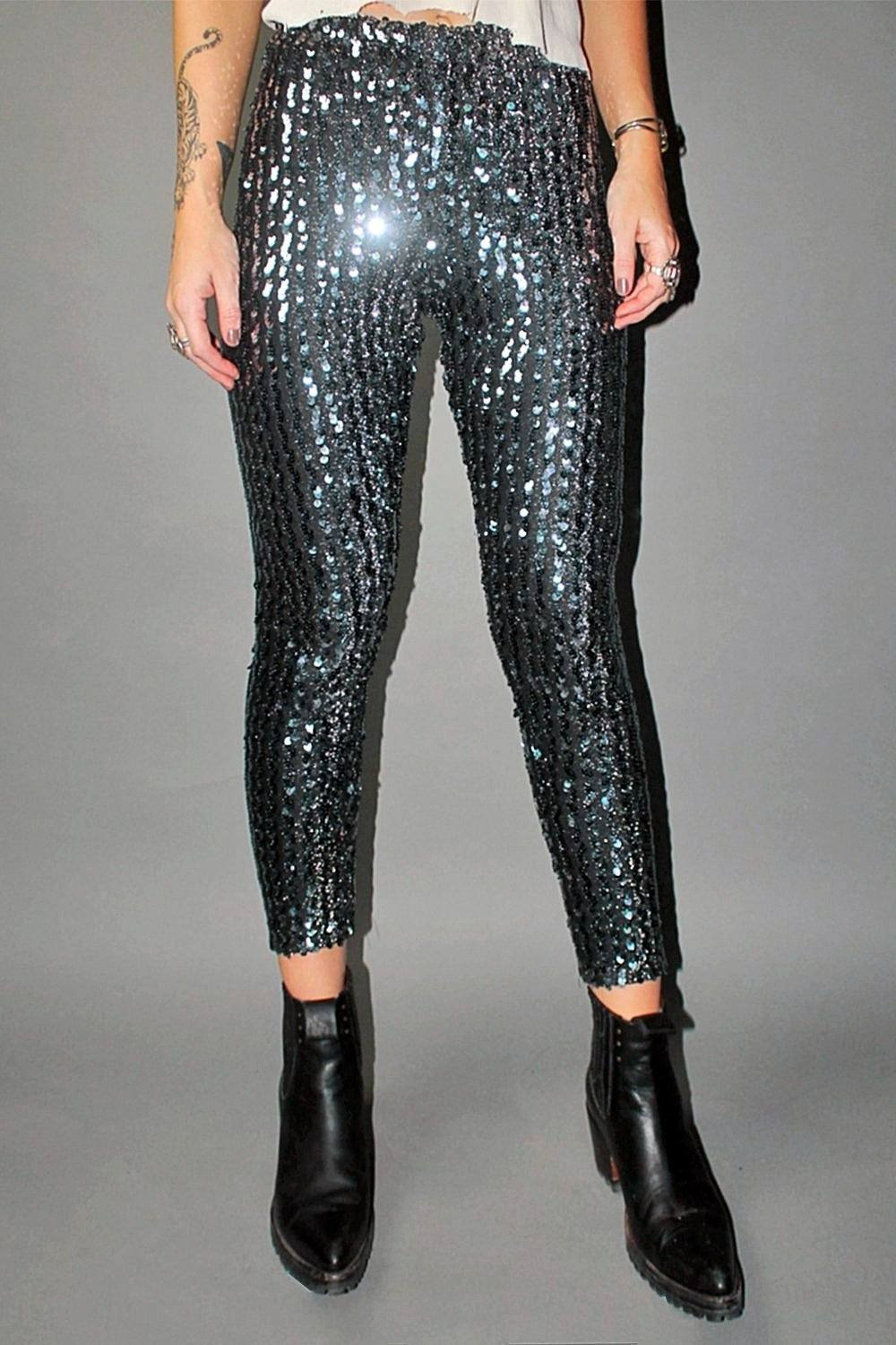 Boogie Nights Vintage Stretch Sequin Pants