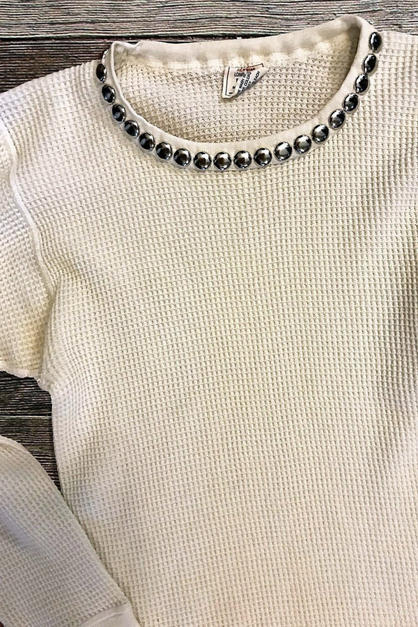 Vintage Worn Studded Thermal (3 Sizes)