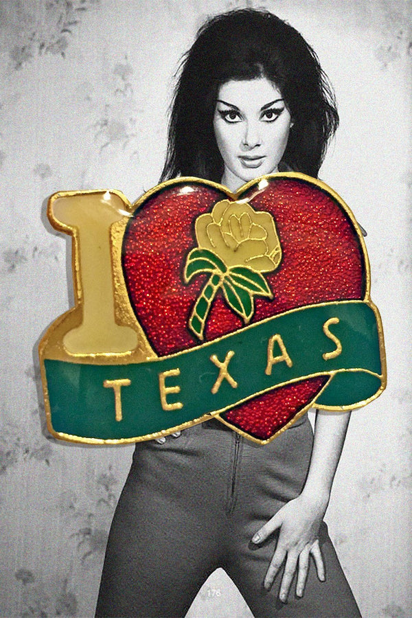 I Heart Texas Lapel Pin, Patches/Pins, BACKBITE, BACKBITE