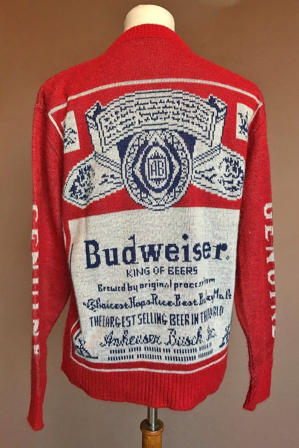 King Of Beers • Vintage Collectors Budweiser Sweater