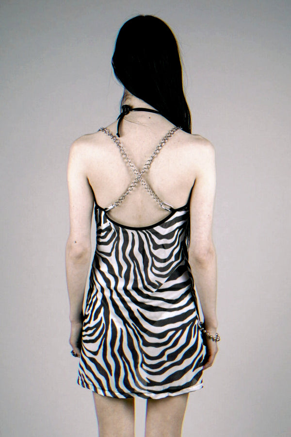The Heavy Metal Chain Dress・Zebra