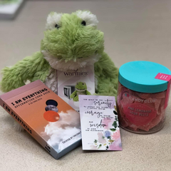 Blessing Bag - Frog warmie and affirmation cards
