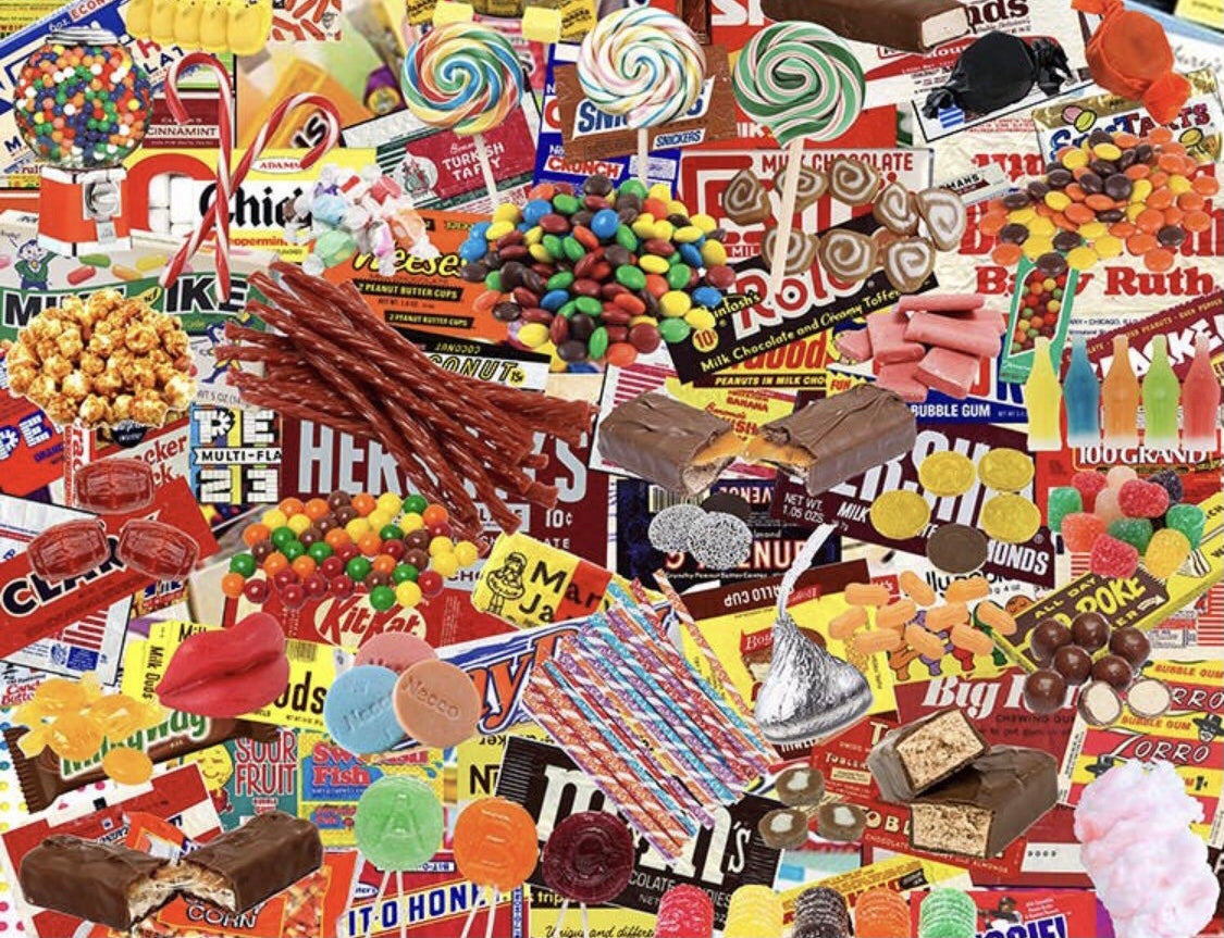 Boomers' Favorite Candy 1000 pc Puzzle