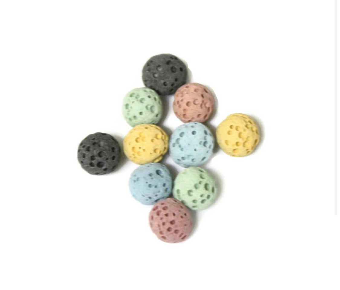 6mm Replacement Lava Rocks Necklaces - Set of 10
