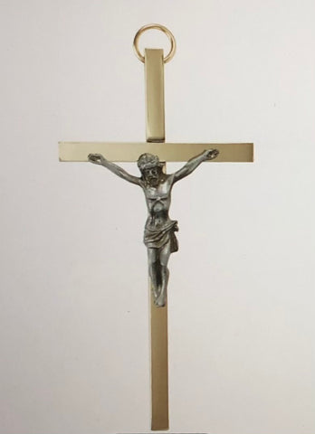 "James Brennan™ 4-1/4"" Brass Crucifix"