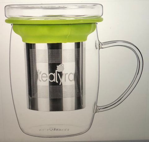 perfecTEA Glass Cup Infuser - Perfect Tea Mug