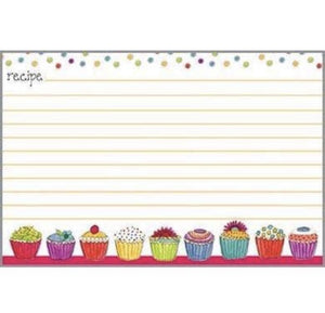 Recipe Cards - Colorful Cupcakes