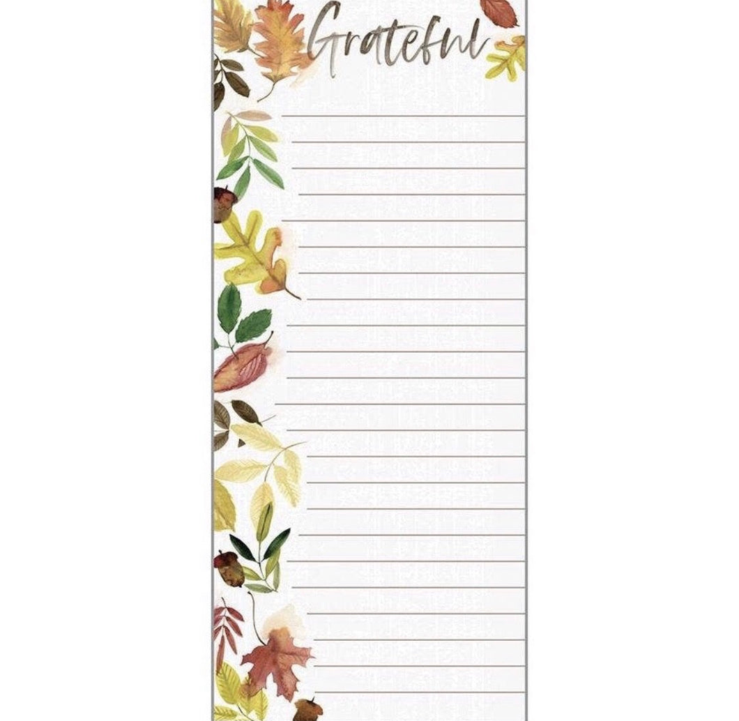 Holiday List Pad - Gather Leaves