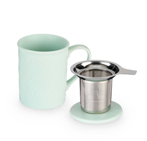 Annette Souk Mint Ceramic Tea Mug & Infuser