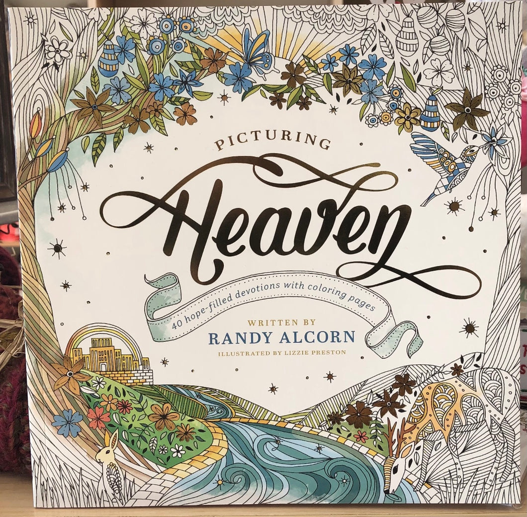Picturing Heaven - 40 Hope-filled Devotions w/coloring pages