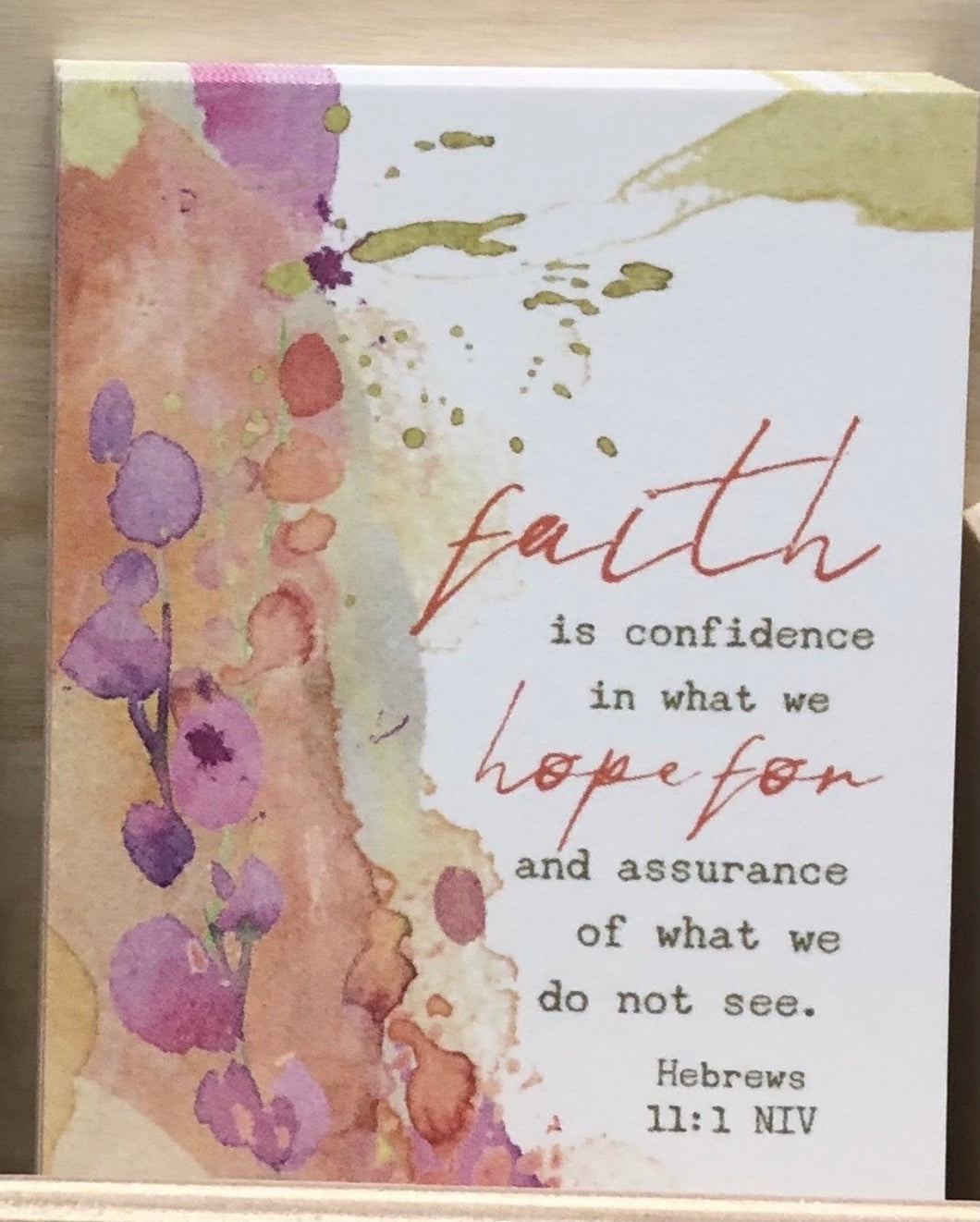 Prayer Life Share Card - Faith is Confidence