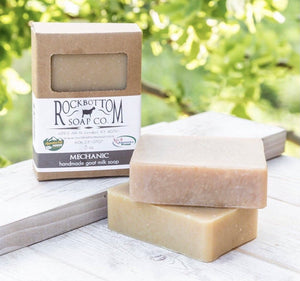 Mechanics Goat Milk Soap Made with Ground Pumice