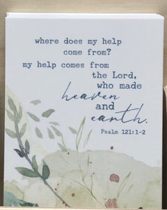 Prayer Life Share Card - Where Does My Help Come From?