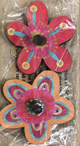 Wooden Wall Hook S/2 Flower