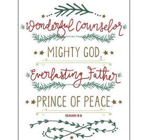Holiday Cards w/Scripture - Wonderful Counselor