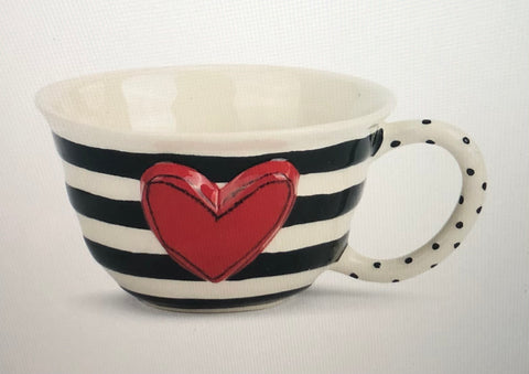 Wide Stripe Tea Cup