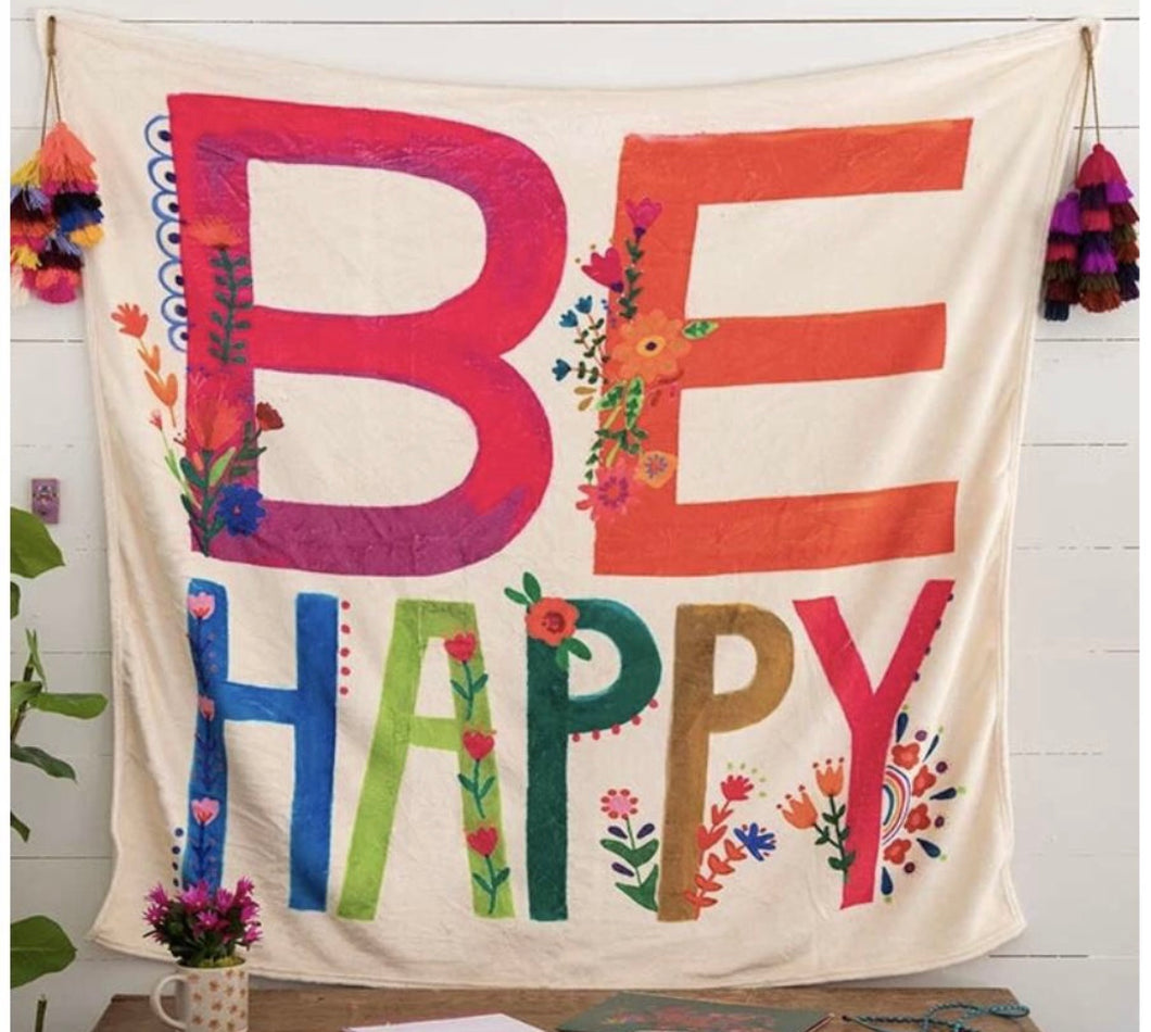 Tapestry Blanket - Be Happy
