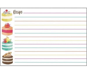 Recipe Cards w/Scripture - Round Cakes