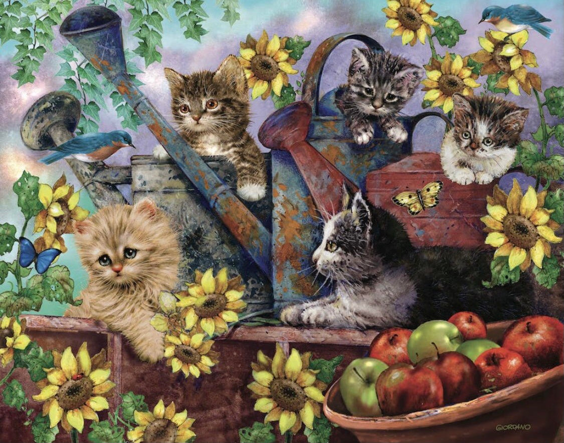 Sunflower Kittens 1000 pc Puzzle