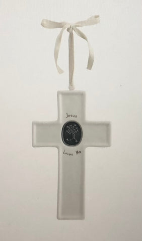 Jesus Loves Me Medallion Cross